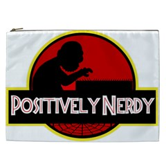 Positively Nerdy Cosmetic Bag (xxl)  by Onesevenart