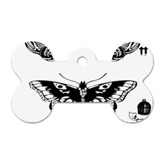 Harry Styles Tattoos Dog Tag Bone (two Sides) by Onesevenart