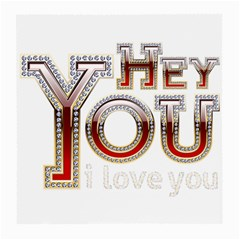 Hey You I Love You Medium Glasses Cloth (2-Side) by Onesevenart