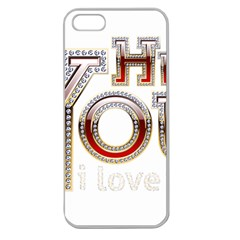 Hey You I Love You Apple Seamless Iphone 5 Case (clear) by Onesevenart