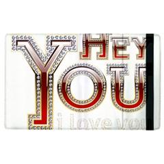 Hey You I Love You Apple iPad 3/4 Flip Case by Onesevenart