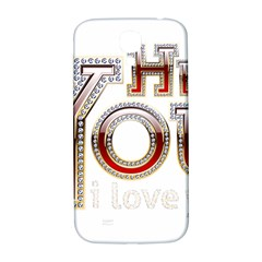 Hey You I Love You Samsung Galaxy S4 I9500/i9505  Hardshell Back Case by Onesevenart