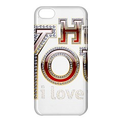 Hey You I Love You Apple Iphone 5c Hardshell Case by Onesevenart