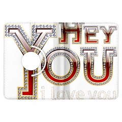 Hey You I Love You Kindle Fire Hdx Flip 360 Case by Onesevenart