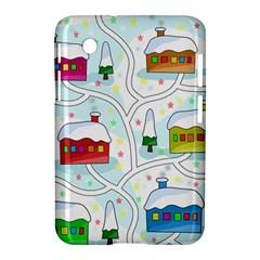 Winter Magical Landscape Samsung Galaxy Tab 2 (7 ) P3100 Hardshell Case  by Valentinaart