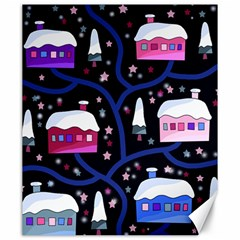 Magical Xmas Night Canvas 20  X 24   by Valentinaart