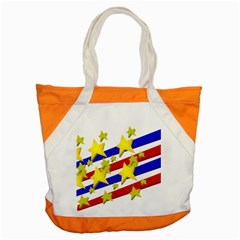 Flag Ransparent Cartoon American Accent Tote Bag by Onesevenart