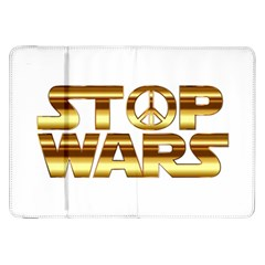 Stop Wars Samsung Galaxy Tab 8 9  P7300 Flip Case by Onesevenart