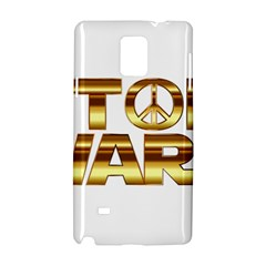 Stop Wars Samsung Galaxy Note 4 Hardshell Case by Onesevenart