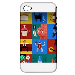 The Oxford Dictionary Illustrated Apple Iphone 4/4s Hardshell Case (pc+silicone) by Onesevenart