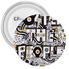 Foster The People Creative Typography 3  Buttons by Onesevenart