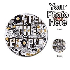 Foster The People Creative Typography Multi Purpose Cards (round)