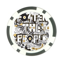 Foster The People Creative Typography Poker Chip Card Guards (10 pack)  by Onesevenart