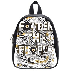 Foster The People Creative Typography School Bags (small)  by Onesevenart