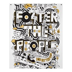 Foster The People Creative Typography Shower Curtain 60  X 72  (medium)  by Onesevenart