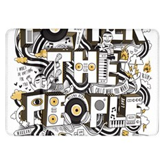 Foster The People Creative Typography Samsung Galaxy Tab 8 9  P7300 Flip Case by Onesevenart