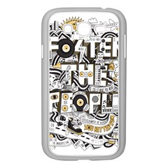 Foster The People Creative Typography Samsung Galaxy Grand Duos I9082 Case (white) by Onesevenart