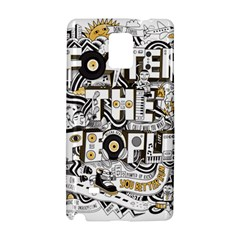 Foster The People Creative Typography Samsung Galaxy Note 4 Hardshell Case by Onesevenart