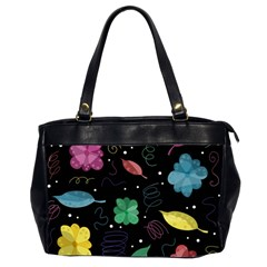 Colorful Floral Design Office Handbags (2 Sides)  by Valentinaart