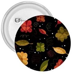 Autumn Flowers  3  Buttons by Valentinaart