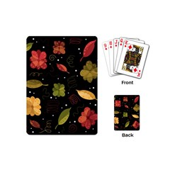 Autumn Flowers  Playing Cards (mini)  by Valentinaart