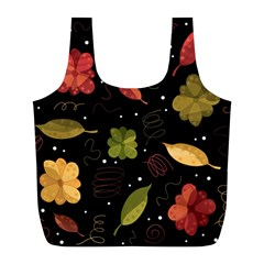 Autumn Flowers  Full Print Recycle Bags (l)  by Valentinaart