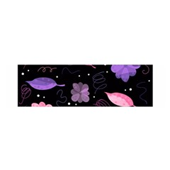 Purple And Pink Flowers  Satin Scarf (oblong) by Valentinaart