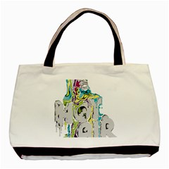 Hot Air Typography Basic Tote Bag by Onesevenart