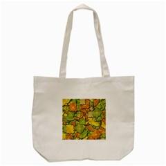 Autumn Flowers Tote Bag (cream) by Valentinaart
