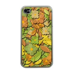 Autumn Flowers Apple Iphone 4 Case (clear) by Valentinaart