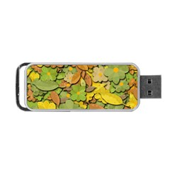 Autumn Flowers Portable Usb Flash (two Sides) by Valentinaart