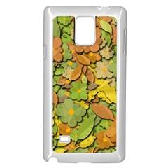 Autumn flowers Samsung Galaxy Note 4 Case (White) by Valentinaart