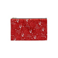 Santa Christmas Collage Cosmetic Bag (Small)  by Onesevenart