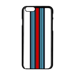 Martini White No Logo Apple Iphone 6/6s Black Enamel Case by PocketRacers