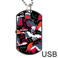 Fly Away  Dog Tag Usb Flash (one Side) by Valentinaart