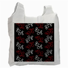 Elegance   Red  Recycle Bag (one Side) by Valentinaart