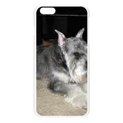 Mini Schnauzer Laying Apple Seamless iPhone 6 Plus/6S Plus Case (Transparent) by TailWags