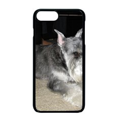Mini Schnauzer Laying Apple iPhone 7 Plus Seamless Case (Black)