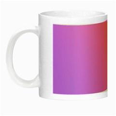 Blank Desk Pink Yellow Purple Night Luminous Mugs by AnjaniArt