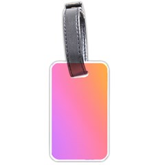 Blank Desk Pink Yellow Purple Luggage Tags (two Sides) by AnjaniArt