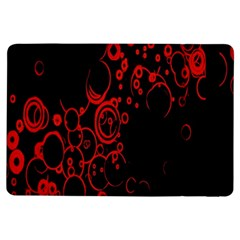 Abstraction Textures Black Red Colors Circles Ipad Air Flip by AnjaniArt