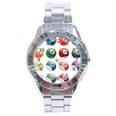 Billiards Stainless Steel Analogue Watch by AnjaniArt