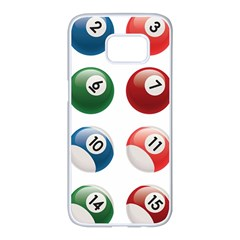 Billiards Samsung Galaxy S7 Edge White Seamless Case