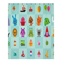 Animals Monster Music Shower Curtain 60  X 72  (medium)  by AnjaniArt