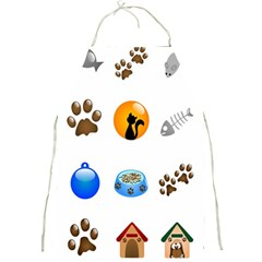Cat Mouse Dog Full Print Aprons by AnjaniArt