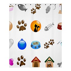 Cat Mouse Dog Shower Curtain 60  X 72  (medium)  by AnjaniArt