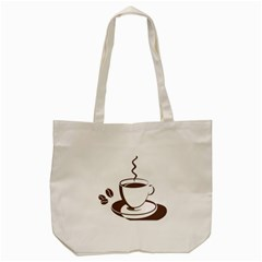 Coffee Beans Tote Bag (cream) by AnjaniArt