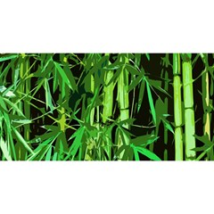 Bamboo Pattern Tree YOU ARE INVITED 3D Greeting Card (8x4) by AnjaniArt