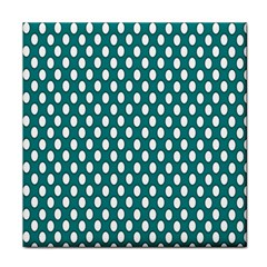 Circular Pattern Blue White Tile Coasters by AnjaniArt