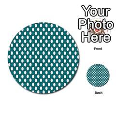 Circular Pattern Blue White Multi Purpose Cards (round)  by AnjaniArt